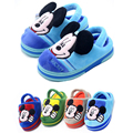 Mickey slippers boys and girls slippers baby shoes children elastic cotton slippers home soft bottom kids winter shoes 2-4years