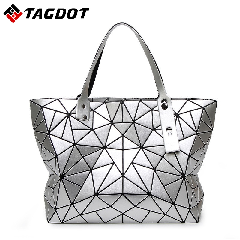 BaoBao Bag Female Folded Geometric women Bags BAO BAO Fashion Casual Tote Women Handbag Ladies Shoulder Bag Handbags With LOGO women s casual tote female shopping bag ladies single shoulder handbag simple beach bag sacoche baobao bags for women on sale