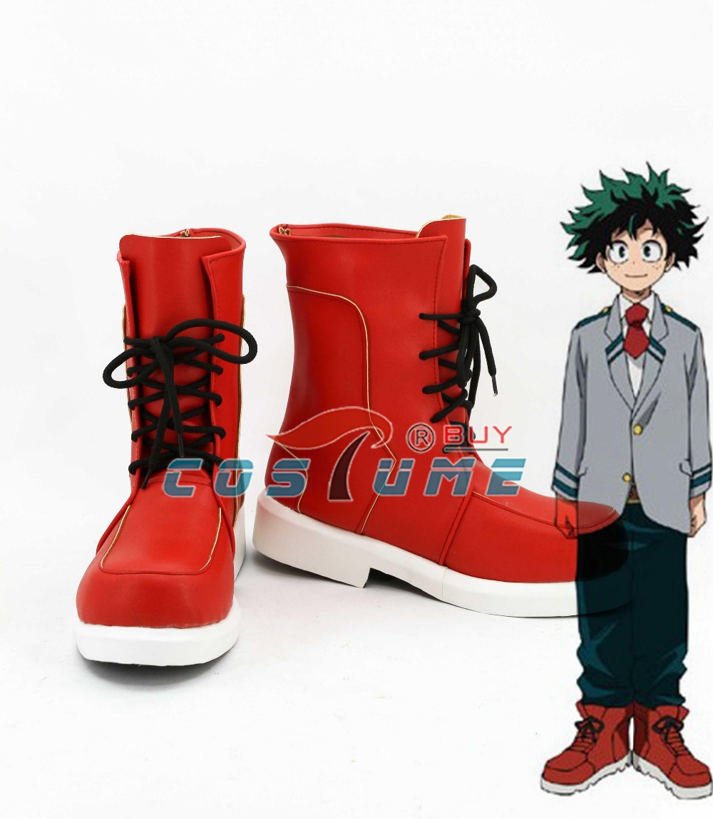 2016 My Hero Academia Boku no Hero Academia Izuku Midoriya Cosplay Shoes Boots