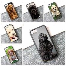 Кокер-Спаниель собака щенки 9 мода сотовый телефон case cover для iphone 4 4s 5 5S 5c SE 6 6 s и 6 плюс 6 s плюс 7 7 плюс # 10174an