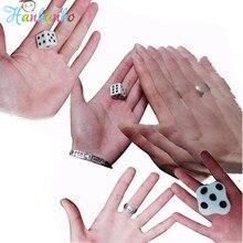 Close up Dice Magic Trick Beat Flat Dice Easy To Learn Mini Magic Props Toys fun