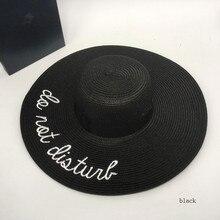 Большая шляпа с вышитыми буквами