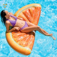 Inflatable Fruit Orange Slice Swimming Float Mattress Inflatable Pool Fun Water Air Bed Beach Toys Raft