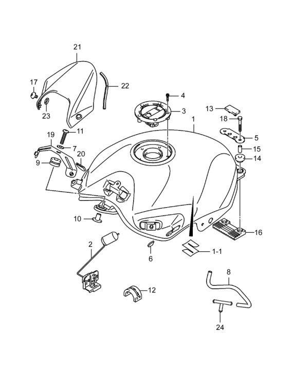 Free Shipping For Suzuki Gw250 Fuel Tank Motorcycle Tank Fuel Tank
