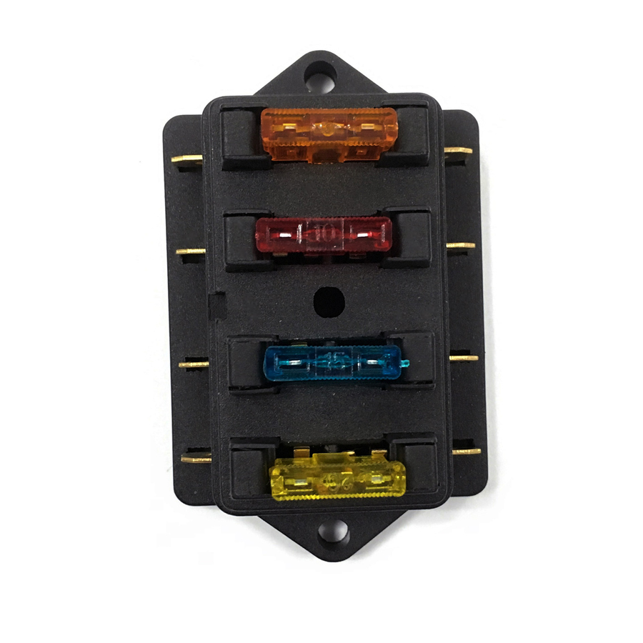 12v Rv Fuse Box Wiring Library Motorcycle Holder 4gang 32v 24v Car Truck Racing Marine Boat 1a 40a
