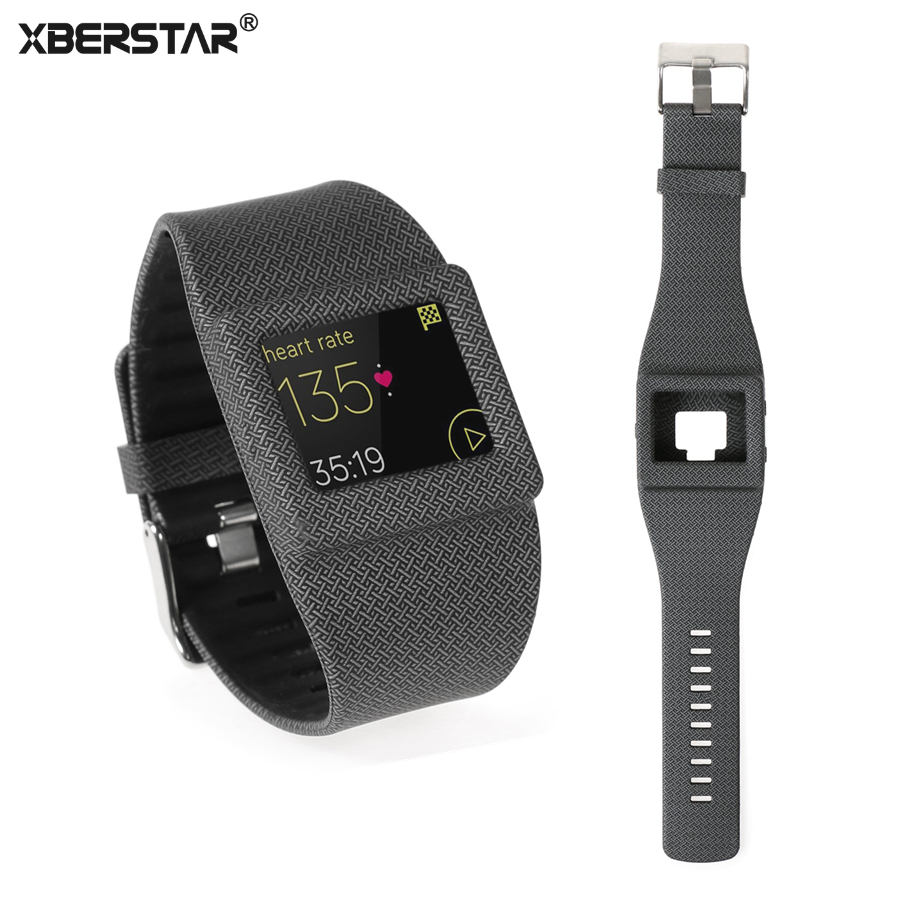 XBERSTAR Strap Watchband for Fitbit Blaze Smart Fitness Watch Silicone Wrist Band Replacement