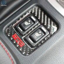 lsrtw2017 carbon fiber car seat heat control button trims for toyota 86 subaru brz 2012 2013 2014 2015 2016