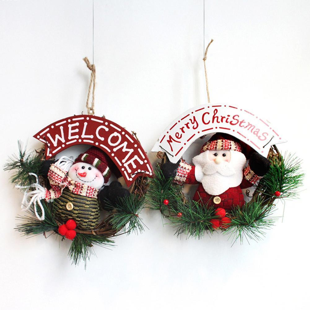 Online get cheap christmas wreath garland for Cheap xmas decorations
