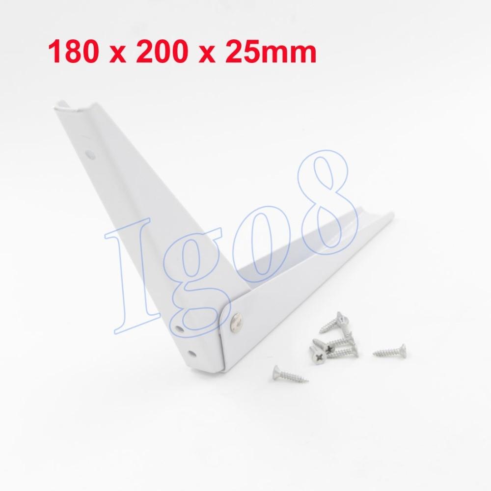 8 Inch Iron Shelf Bracket 180mm x 200mm x 25mm triangular folding bracket thickened word separator shelf bookcase compartment set top box spring iron support frame 14 inch