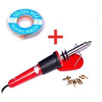 30 w 220-240 V Woodburning Pen Set Houten Brandende Tool Set + 1.5 M X 2 MM Soldeer lont Solderen Remover Tool kit voor DIY ontwerp