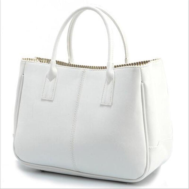 Nye casual håndtasker kvinder læder taske 10 farver kvindelige - Håndtasker - Foto 2