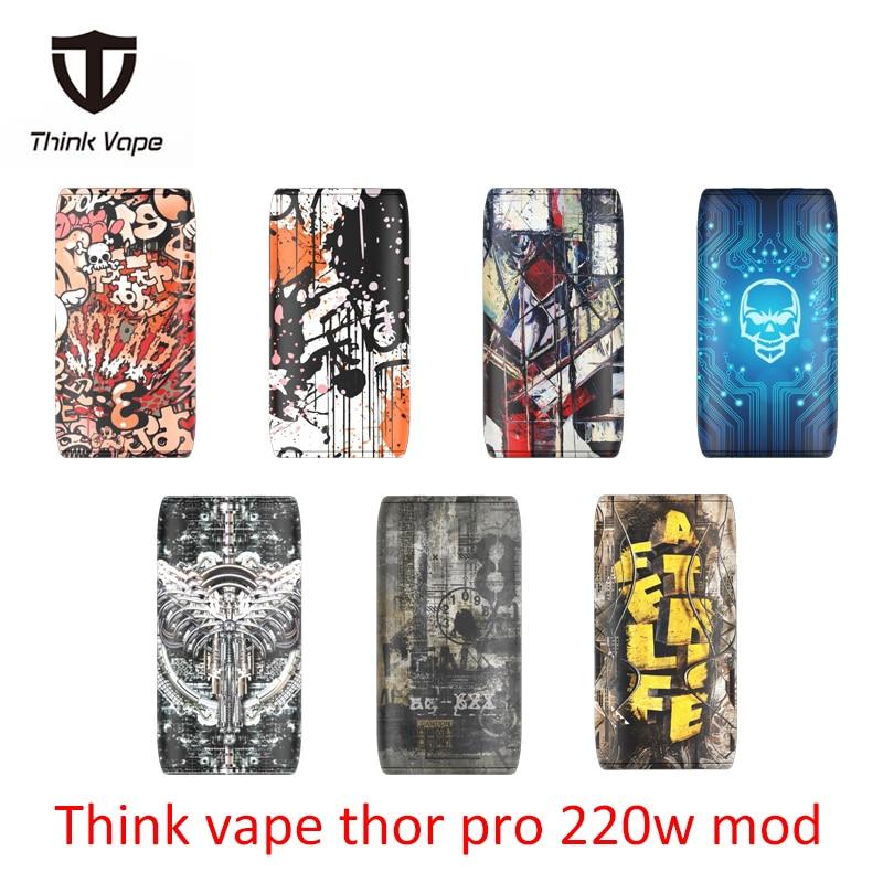 Original Thinkvape Thor pro 220 W TC Box Mod Denken Vape Thor pro Bypass vape mod Modi 510 e Cig mod vape verwenden 18650 batterie