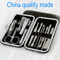 12pcs Portable Stainless steel Nail Art Manicure Set Nail Care Tools with Mini Finger Nail Cutter Clipper File Scissor Tweezers