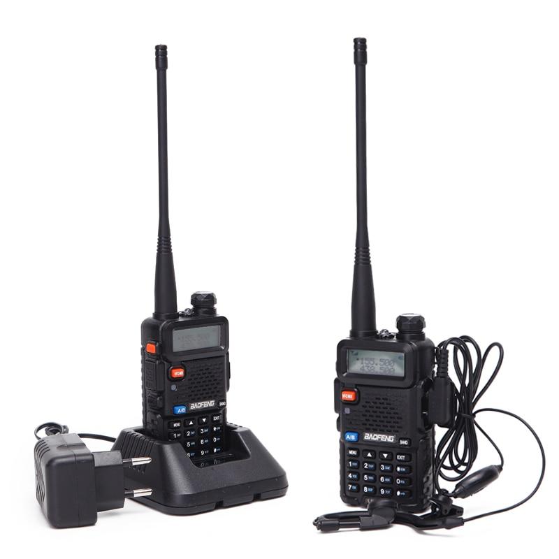2PCS Baofeng UV-5R Walkie Talkie Portable Radio Station 5W 128CH VHF UHF Dual Band UV5R Two Way Radio for Hunting Ham CB Radio 5