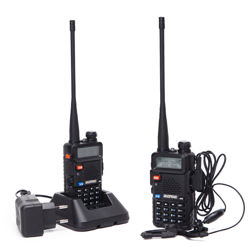 Image 5 - 2PCS Baofeng UV 5R Walkie Talkie Portable Radio Station 5W 128CH VHF UHF Dual Band UV5R Two Way Radio for Hunting Ham CB Radio-in Walkie Talkie from Cellphones & Telecommunications