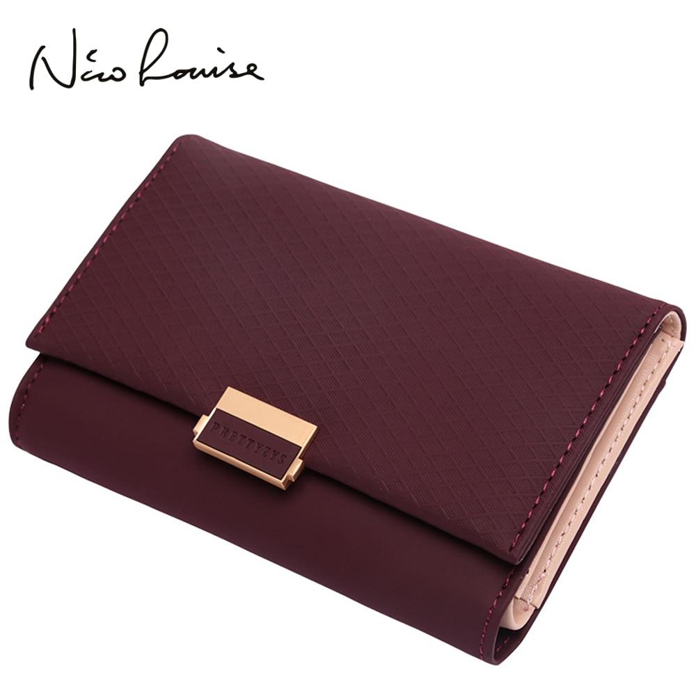 Wallet Purses Card-Holder Coin Credit Zipper Women Medium Ladies Luxury Plaid for Girls