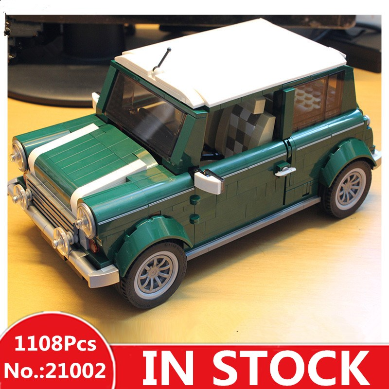 H&HXY Free shipping 21002 1108 pcs MINI Cooper LEPIN Model Building Kits Blocks Bricks Toys Compatible With10242 антенны телевизионные ritmix антенна телевизионная