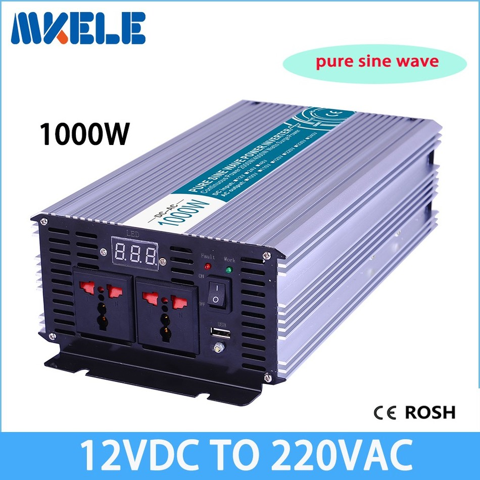 1000 Watt Pure Sine Wave Inverter Us 99 09 12 Off Mkp1000 122b Hot Slaes Off Grid Pure Sine Wave 1000 Watt Inverter 12 Volt 220 Volt Inverter 1000w Solar Inverter Invt Inverter In