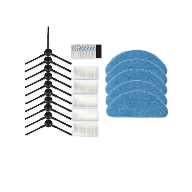 V5S Pro Robotic Vacuum Cleaner Side Brush HEPA filter Mop Cloth Magic Paste for ilife v5s pro V50 V55 X5 V3s pro Robot Parts high quality side brush hepa filter sponge mop cloth magic paste for conga excellence cleaner robotic robot vacuum cleaner parts