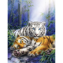 DIY 5D Diamond Mosaic Lion tiger Handmade Diamond Painting Cross Stitch Kits Diamond Embroidery Patterns Rhinestones Arts YY(China)