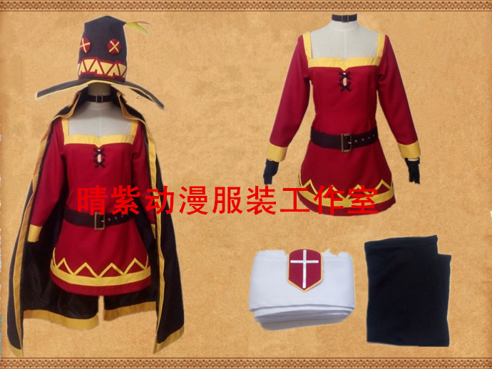 KonoSuba Megumin Cosplay Costume Custom Made Any Size in Anime Costumes from Novelty Special Use