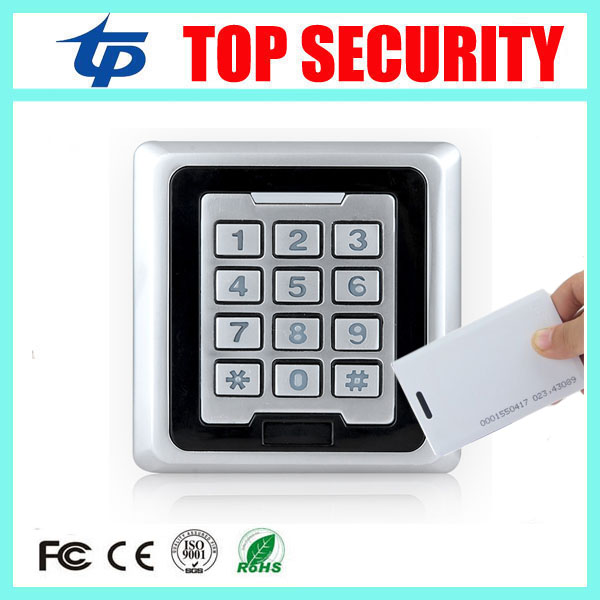 8000 users standalone RFID card access control system surface waterproof 125KHZ ID card door access control reader ip65 waterproof rfid card reader access control panel 8000 users single door 125khz id em card access controller 10pcs id card