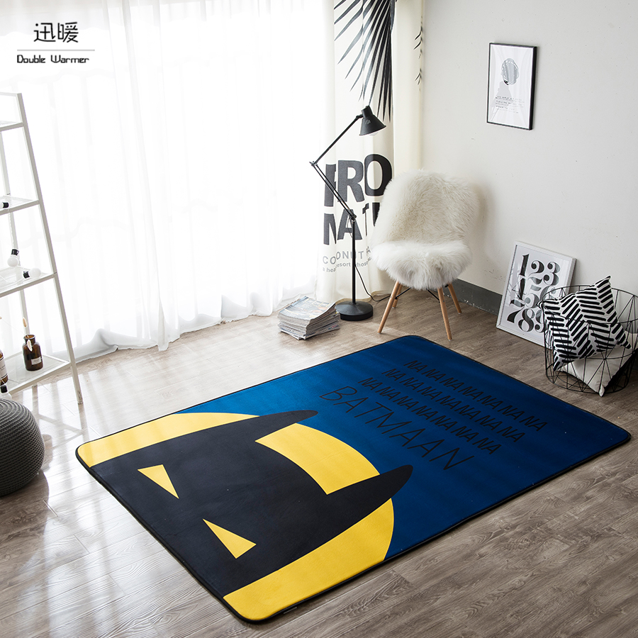 Cartoon Batman Modern Living Room Sofa Coffee Table Carpet