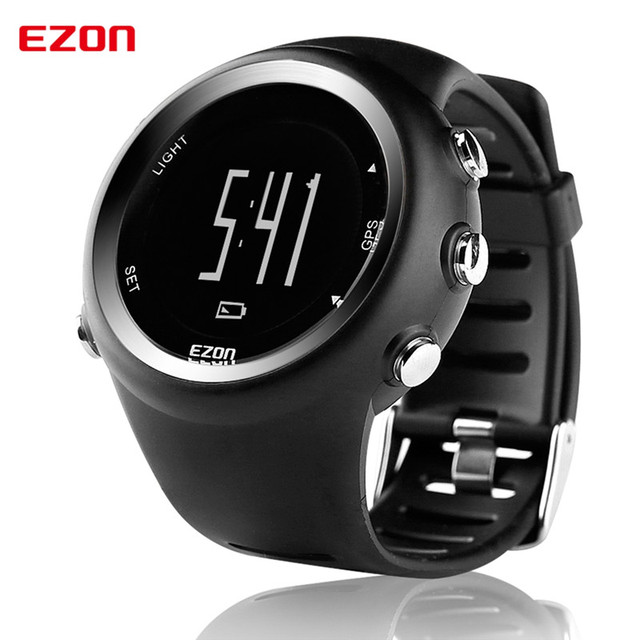 EZON sports watch GPS running watches men multi-functional outdoor waterproof men's watches distance speed calories timing T031