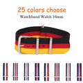 16 MM de Nylon venda de Reloj correas de reloj resistente al agua correa Nuevo llegado! 25 colores disponibles-1 UNIDS Alta calidad