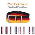 16 MM faixa De Relógio de Nylon cintas pulseira de relógio à prova d' água Novo chegou! 25 cores disponíveis-1 PCS de Alta qualidade