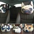 3D Creative Animal Tiger Face Headrest Car Sead Support Women Sleep Neck Rest Plush Cushion Cute Meow