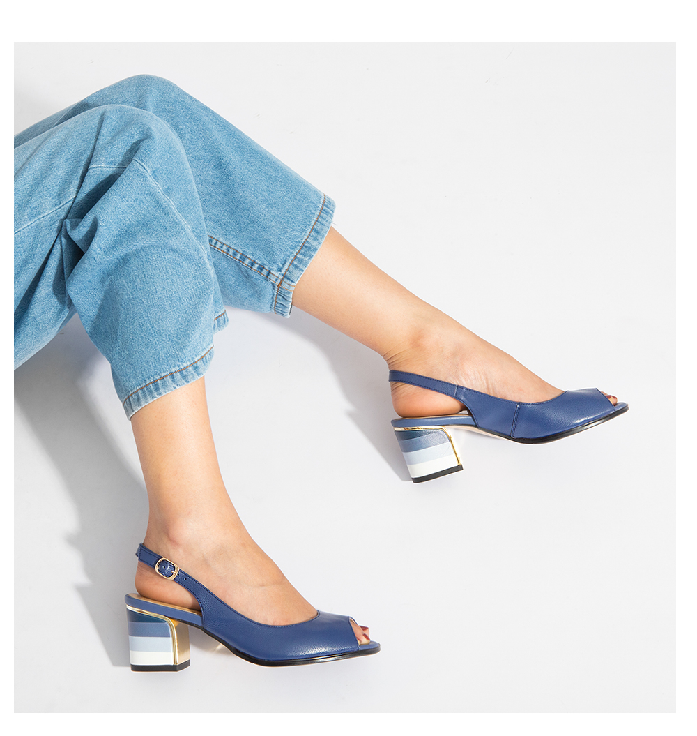 HTB1V nXoGF3KVjSZFmq6zqPXXaP SOPHITINA Sandals Handmade Genuine Leather 2019 New Sexy Lady Peep Toe Sandals Square Heel Buckle Strap Classics Shoes Woman S22