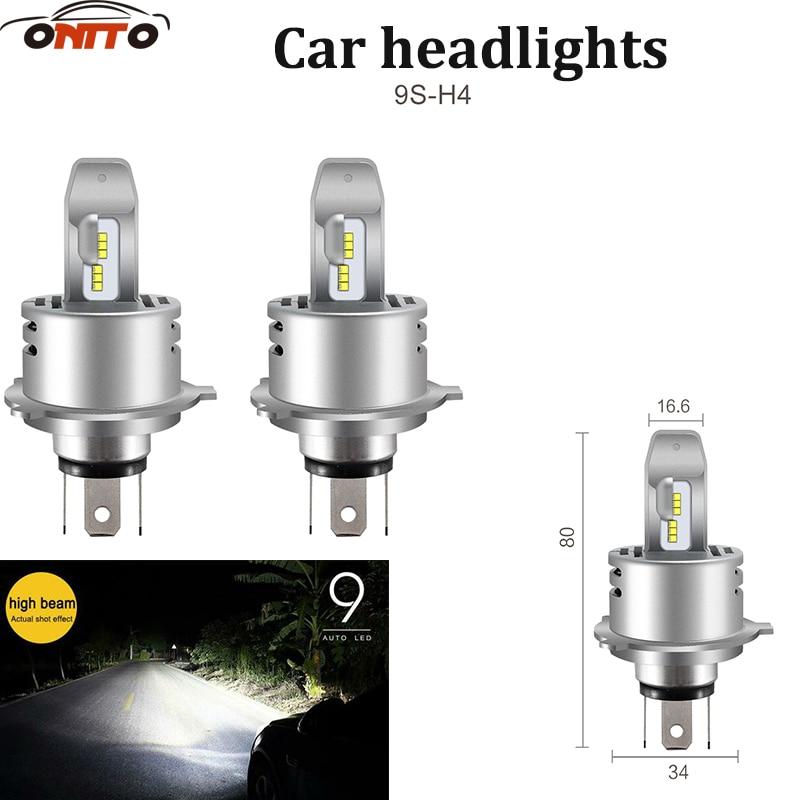 2pcs/lot 9005 9006 9012 H1 H4 H7 H8 led 30W 12V 9S Integrated Headlight Car LED Beam Auto Bulbs 6000K White