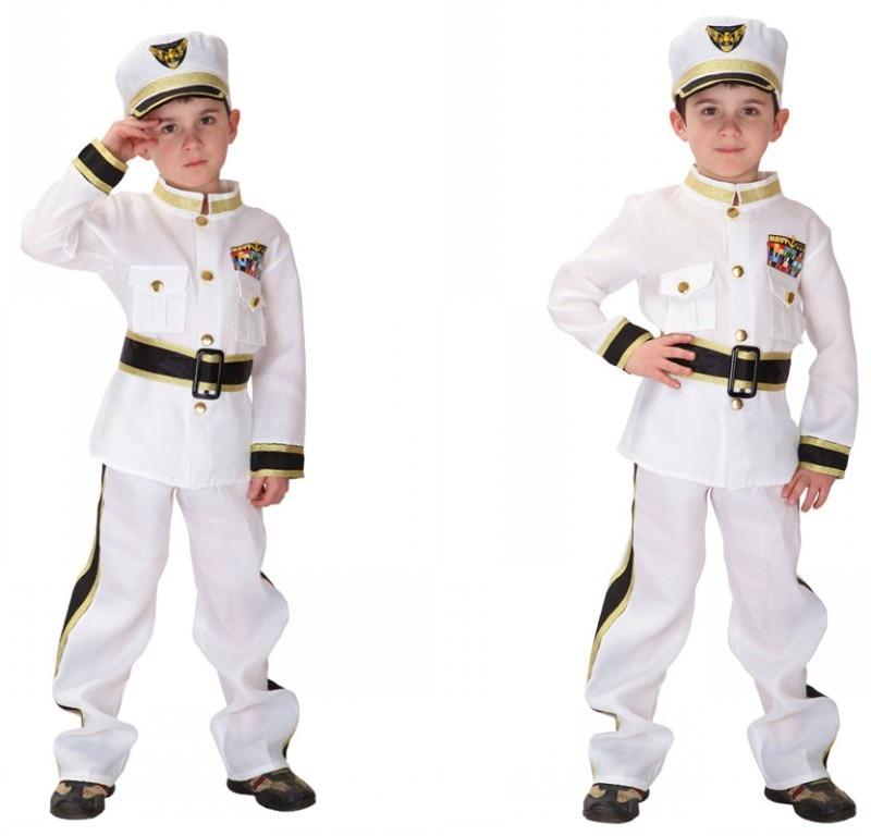 Детский костюм на Хэллоуин костюм полицейского топ + штаны + пояс + шляпа детский сценический костюм на вечеринку костюм 18