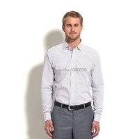 100% القطن الأبيض والأسود منقوشة يتأهل طويل كم رجل قميص زائد حجم XS-XXXXL