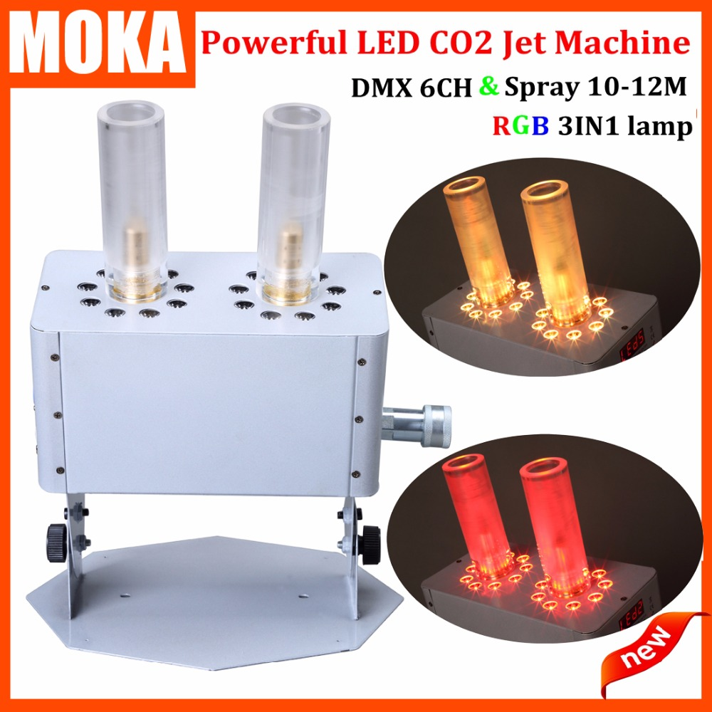 Stage Strong effect LED Co2 Jet Machine 12 x 3W RGB 3IN1 CO2 Jet Machine Smoke Machine Pro DJ Equipment for night club party