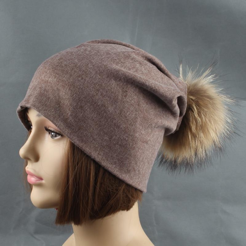 Rudens žiemos unisex vientisos spalvos medvilnės skullies pupelės - Drabužių priedai - Nuotrauka 3