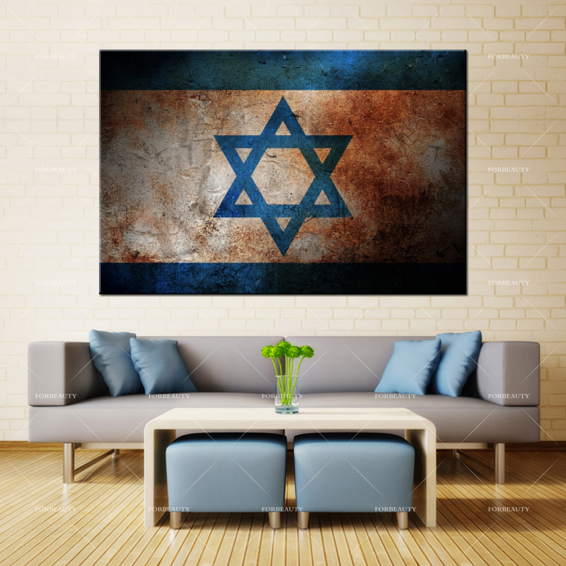 Forbeauty Canvas Painting Wall-Art Home-Decor Waterproof Ink Israel Color Surface-