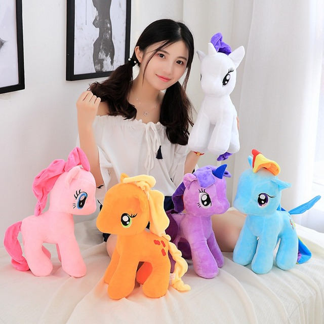d33eb80dc68 6 pieces a Lot Cartoon 25 30 40cm Soft Unicorn Plush Toys Beanie Boos