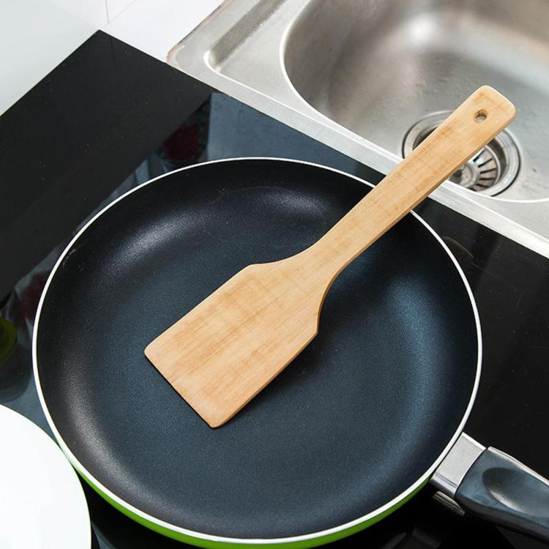 1pc Healthy Wooden Cooking Scoop Spatula Shovel Spoon Mini Nonstick Anti-heat Rice Spatula Shovel Kitchen Tool A35
