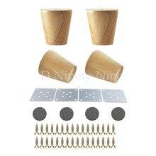 4 قطع جديد الطبيعي الخشب موثوقة 80x58x38 ملليمتر أثاث خشبي الساق مخروط على شكل أقدام خشبية ل خزائن لينة الجدول