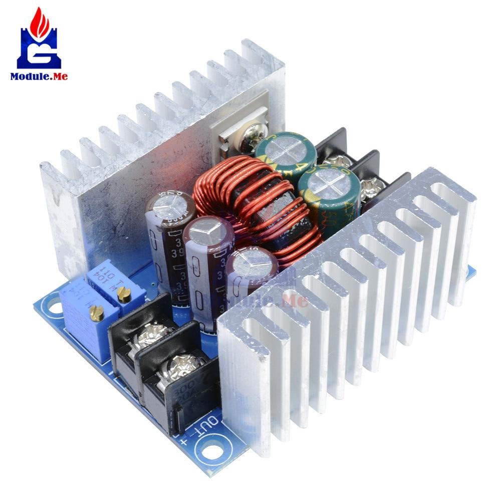 300 W 20A DC Buck convertidor Step Down módulo corriente constante LED controlador potencia voltaje placa disipador de calor cortocircuito protección