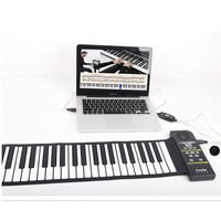 Multi Style Portable 88 Keys Piano Flexible Silicone Roll Up Piano Folding Electronic Keyboard for Children Student Hot Dropship