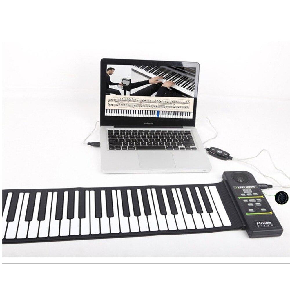Multi Style Portable 88 Touches Piano Flexible En Silicone Roll Up Piano Pliage clavier électronique pour Enfants Étudiant offre spéciale