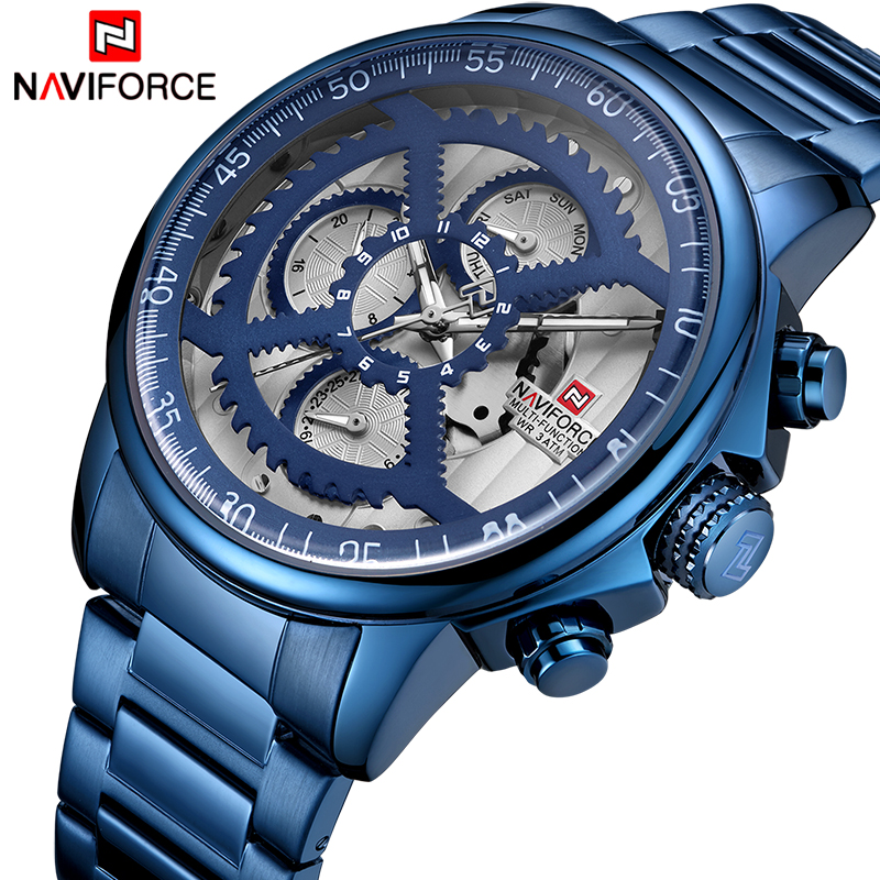 NEW Watches Mens Luxury Brand NAVIFORCE Men Sports Watches Mens Waterproof Full Steel Quartz 24 Hours Watch Relogio MasculinoNEW Watches Mens Luxury Brand NAVIFORCE Men Sports Watches Mens Waterproof Full Steel Quartz 24 Hours Watch Relogio Masculino