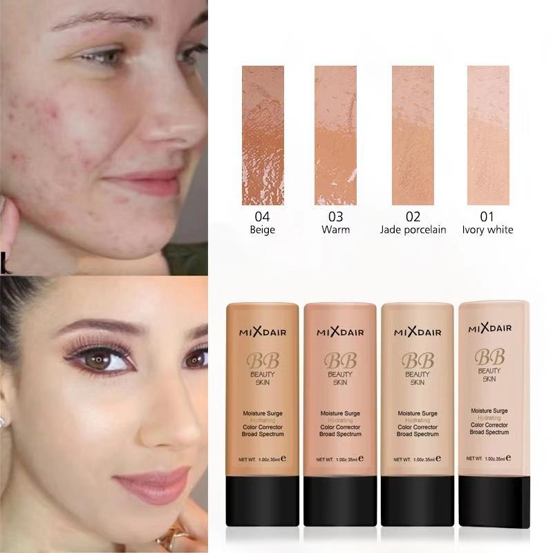 MIXDAIR Face Foundation Cream Make Up Base Natural Full Coverage Foundation Liquid Moisturizing BB Cream Whitening Concealer image