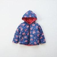 1-6 năm bé gái cũ mùa đông áo khoác Kids flower đôi mặc nhẹ bông coat áo khoác