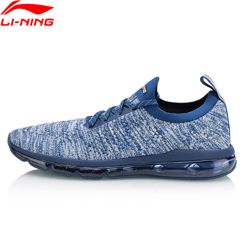 Li-Ning Men BUBBLE MAX KNIT Lifestyle Shoes Breathable Wearable LiNing li ning Comfort Sport Shoes Sneakers AGLN055 YXB163