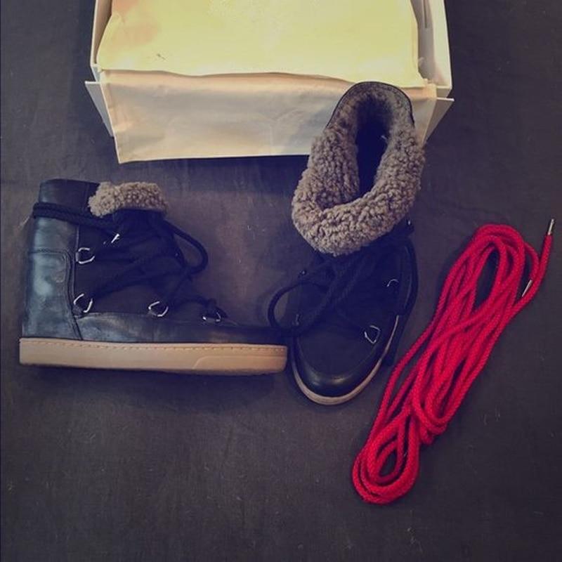 Chic Chaude Hauteur D'hiver Tenue Femmes Lacets Bottes As Show Neige Show Casual De Bottines Chaussures Mode as Augmentant Chaud À Chaussons Fourrure XiuPkZ