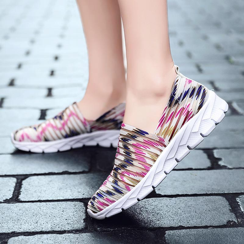 Summer Slip-on Running Shoes For Women Breathable Tennis For Woman Mesh Women's Sneakers Light Weight Sports Shoes Sport B-336